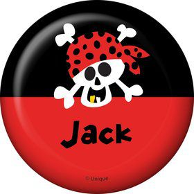 Pirate Birthday Personalized Button (each)