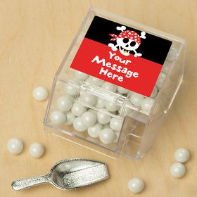 Pirate Birthday Personalized Candy Bin with Candy Scoop (10 Count)