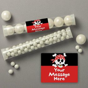 Pirate Birthday Personalized Candy Tubes (12 Count)