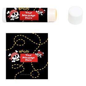 Pirate Birthday Personalized Lip Balm (12 Pack)