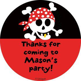 Pirate Birthday Personalized Sticker