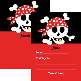 Pirate Birthday Personalized Thank You Note (each)
