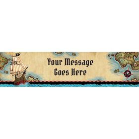Pirate Map Personalized Banner (Each)