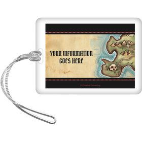 Pirate Map Personalized Luggage Tag (Each)