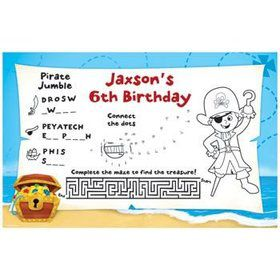 Pirate Personalized Activity Mats (8-pack)
