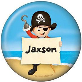 Pirate Personalized Button (each)