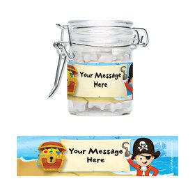 Pirate Personalized Glass Apothecary Jars (12 Count)