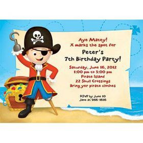 Pirate Personalized Invitation (each)