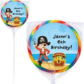 Pirate Personalized Lollipops (pack of 12)