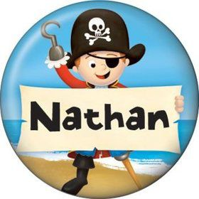 Pirate Personalized Mini Magnet (each)