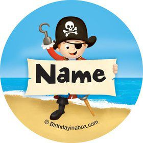 Pirate Personalized Mini Stickers (Sheet of 24)