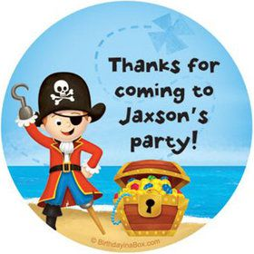 Pirate Personalized Stickers (sheet of 12)