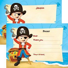 Pirate Personalized Thank You Note (each)