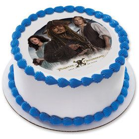 "Pirates of the Caribbean 7.5"" Round Edible Cake Topper (Each)"