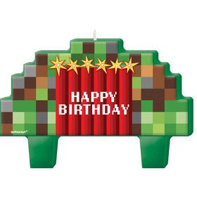 Pixelated Birthday Candles (4)