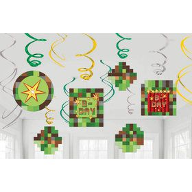Pixelated Swirl Decorations (12)