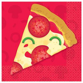 Pizza Party Beverage Napkins (16)