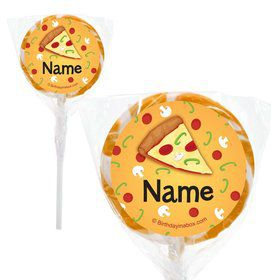 "Pizza Party Personalized 2"" Lollipops (20 Pack)"