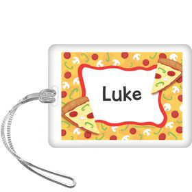 Pizza Party Personalized Bag Tag (each)