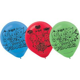 PJ Masks Latex Balloons (6 Count)