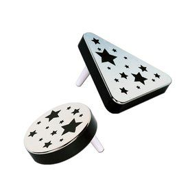 Plastic Metallic Black and Silver Noise Makers