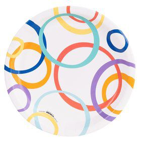 Playful Pom Pom Circle Dinner Plate (8)