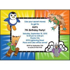Pocket Monsters Personalized Invitation (each)