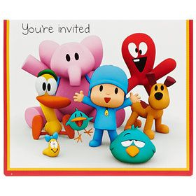 Pocoyo Invitations