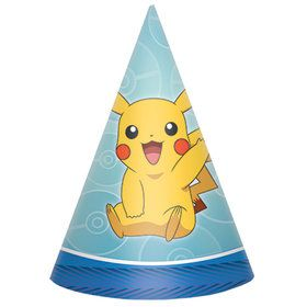 "Pokemon Core 6"" Party Hats (8)"