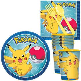 Pokemon Core Standard Tableware Kit With Plastic Favor Cups (Serves 8)