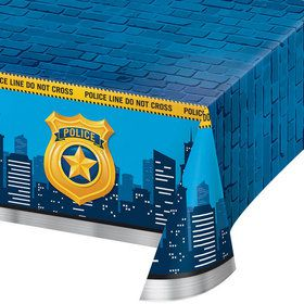Police Party Plastic Tablecover (1)