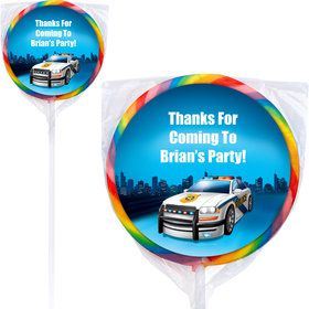Police Personalized Lollipops (12 Pack)