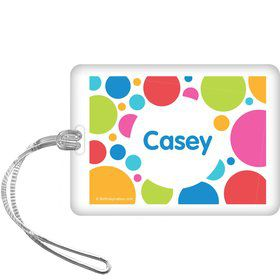 Polka Dot Party Personalized Bag Tag (each)