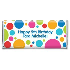 Polka Dot Party Personalized Candy Bar Wrapper (Each)