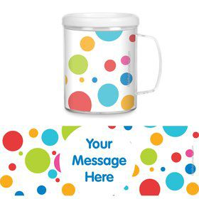 Polka Dot Party Personalized Favor Mugs (Each)
