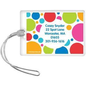 Polka Dot Party Personalized Luggage Tag (each)