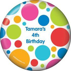 Polka Dot Party Personalized Magnet (each)