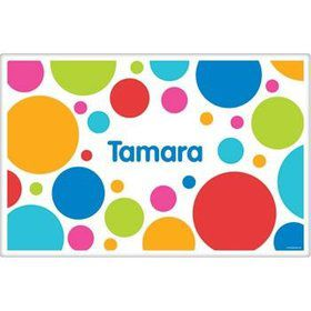Polka Dot Party Personalized Placemat (each)