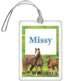 Pony Party Personalized Bag Tag (each)