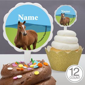 Pony Party Personalized Cupcake Picks (12 Count)