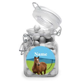 Pony Party Personalized Glass Apothecary Jars (10 Count)