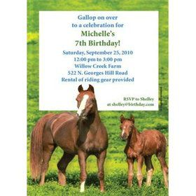 Pony Party Personalized Invitation (each)