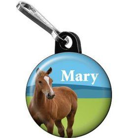 Pony Party Personalized Mini Zipper Pull (each)