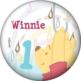 Pooh Personalized Button (Each)