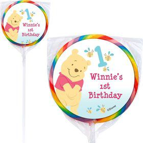Pooh Personalized Lollipops (12 Pack)