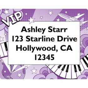 Pop Star Personalized Address Label