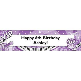 Pop Star Personalized Banner (each)