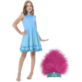 Poppy Girl's Trolls World Tour Dress Costume Kit
