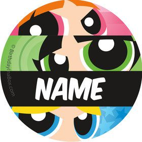 Powderpuff Girls Personalized Mini Stickers (Sheet of 24)