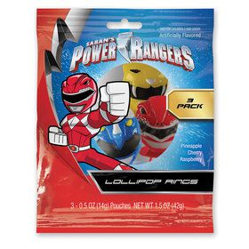 Power Ranger Masks Lollipop Rings (3 Count)